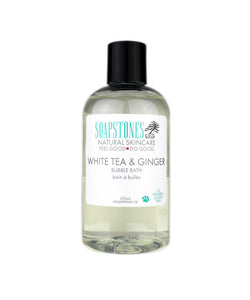 White Tea and Ginger Bubble Bath - Soapstones Natural Skincare
