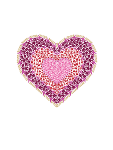 8 Pink Heart Note Card Box - Animal Track Designs