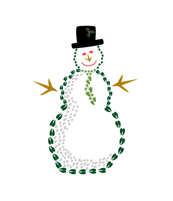 8 Snowman Holiday Card Cello Pack - Animal Track Designs