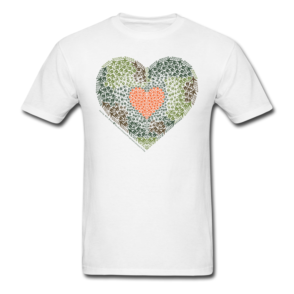 Camo Heart T-Shirt - Animal Track Designs