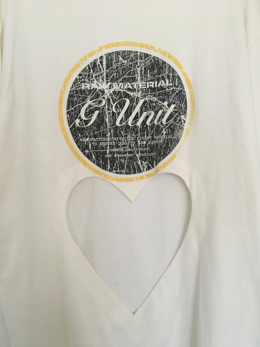 oversized heart cut-out  G-unit tee
