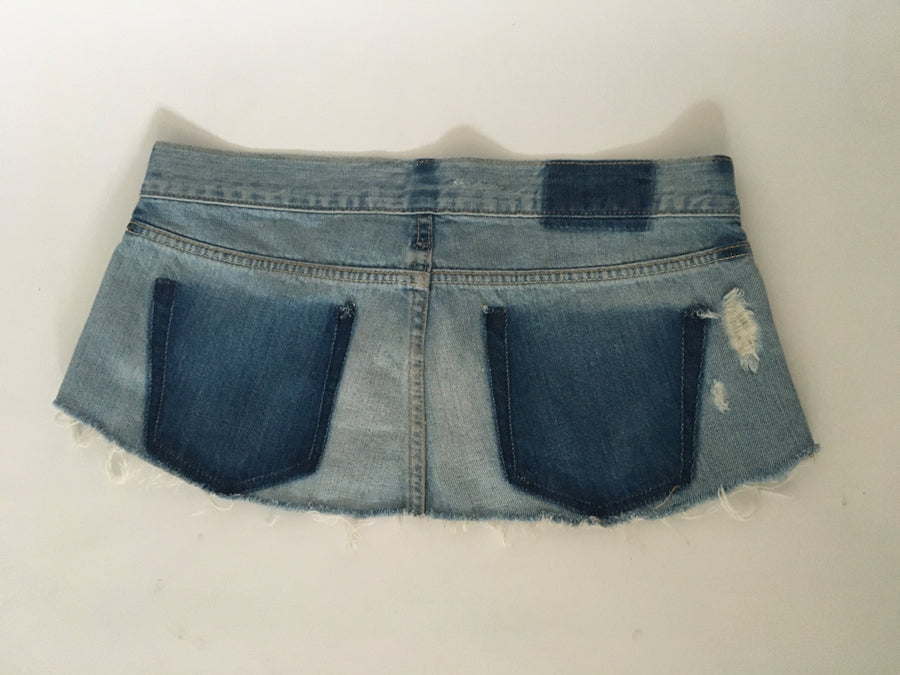 recycled denim skirtbelt
