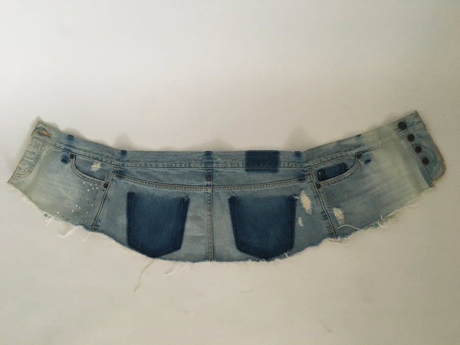 recycled denim skirt belt 2