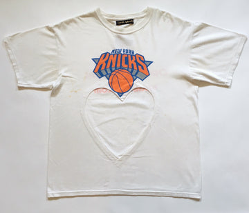 NY knicks heart cut-out tee