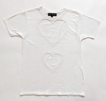 DOUBLE HEART CUT-OUT TEE
