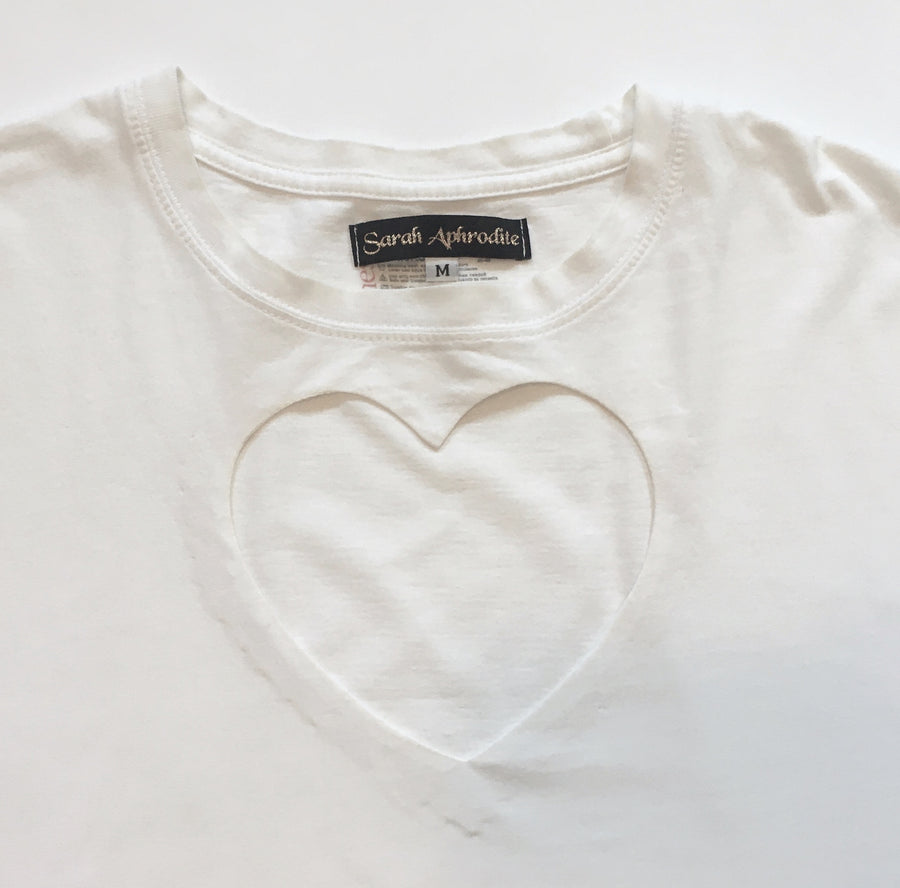 oversized Double heart cut-out TEE 1