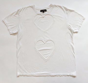 OVERSIZED DOUBLE HEART CUT-OUT TEE 2
