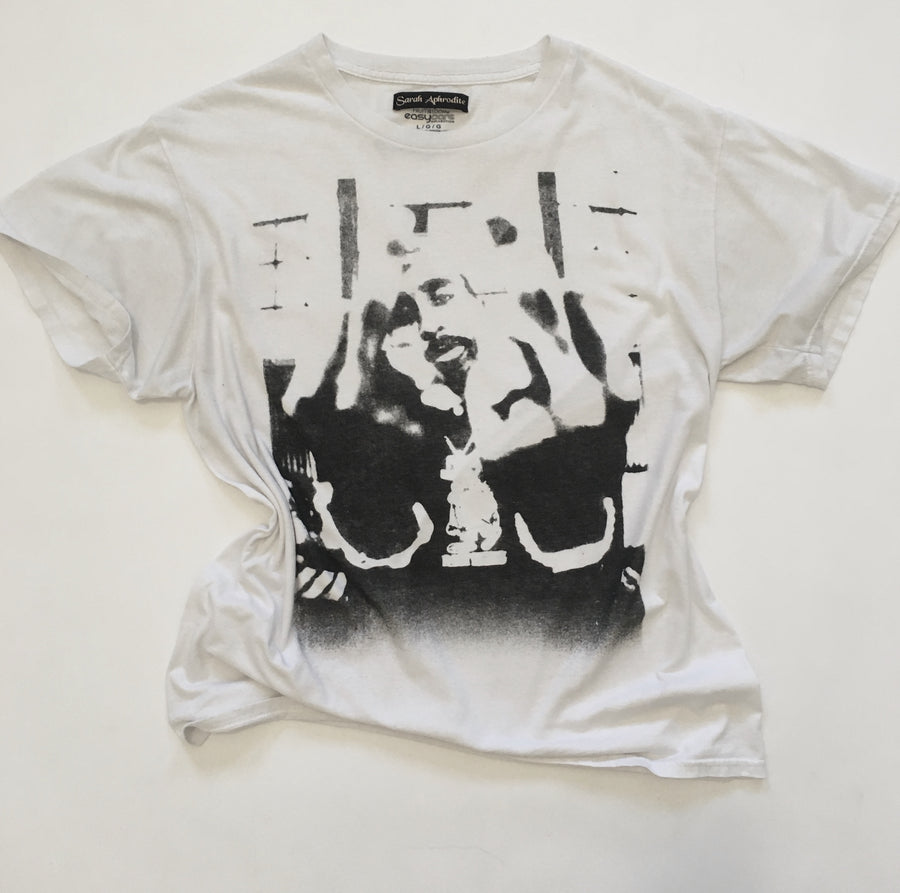 oversized tupac screenprint tee