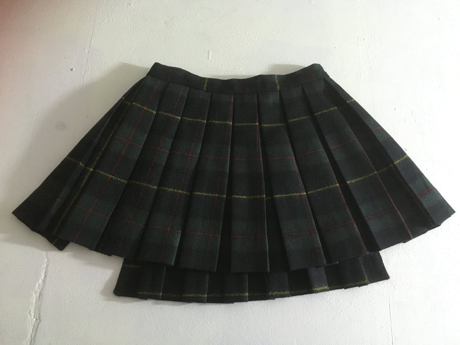 plaid boxplead skirtbelt