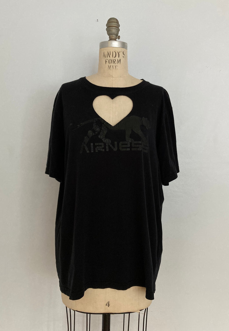 OVERSIZED 'AIRNESS' HEART CUT-OUT TEE