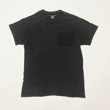 WASHED GREY HEART CUT-OUT TEE 2