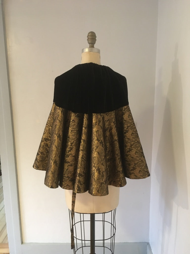 Black velvet cape/skirt