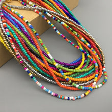 Load image into Gallery viewer, Fashion Women Beads choker Necklace Colorful String Beaded Necklace women Jewelry Torques Necklace birthday gift party jewelry