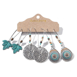 Multiple Boho Ethnic Dangle Drop Earrings for Women Female Fashion 2019 Women's Earrings Sets Ornament Charm Jewelry Accessories