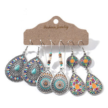 Load image into Gallery viewer, Multiple Boho Ethnic Dangle Drop Earrings for Women Female Fashion 2019 Women's Earrings Sets Ornament Charm Jewelry Accessories