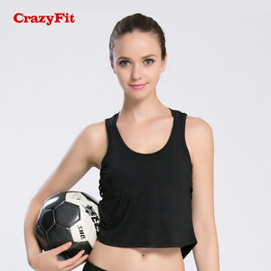 CrazyFit Hollow Out Yoga Top Shirt Female Sports Top For Women 2018 Sleeveless Workout Tops Fitness Clothing Gym Sportswear Tank