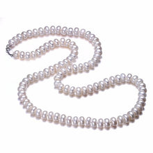 Load image into Gallery viewer, Hengsheng Real White Natural Freshwater Pearl Women Necklace,8-9mm Beads Jewelry Necklace,60cm Length Necklace Fashion Jewelry