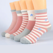 Load image into Gallery viewer, 5 Pairs Baby Girls Socks Spring Summer Cotton Newborn Baby Socks Baby Meias Para Bebe Kids Socks for Children Boys Socks 1-12Y