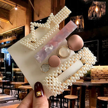 Load image into Gallery viewer, Acrylic Barrettes Pearl Hair Clip Sets For Women Fashion Simple Geometric Hairpins Hair Accessories Headdress Girl Bobby Clip