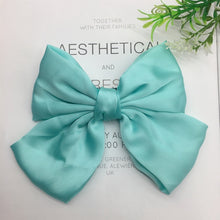 Load image into Gallery viewer, Fashion Ribbon Hairgrips Big Large Bow Hairpin For Women Girls Satin Trendy Ladies Hair Clip New Cute Barrette Hair Accessories