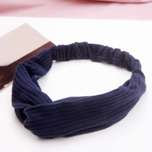 Load image into Gallery viewer, 20 /Colors Women Turban Cross Knot Elastic Hair Bands Girl For Hair Elastic Band Soft Solid Bezel Hair Accessories