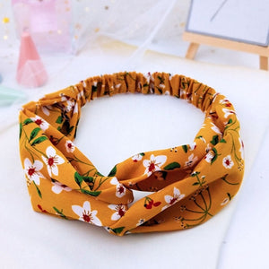 20 /Colors Women Turban Cross Knot Elastic Hair Bands Girl For Hair Elastic Band Soft Solid Bezel Hair Accessories