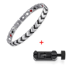 Load image into Gallery viewer, Rainso Titanium Health Power Bracelet Bangle For Women Jewelry with 4 Elements Magnetic Couples Accessories OTB-034