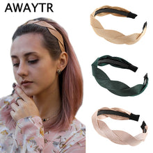 Load image into Gallery viewer, AWAYTR Fashion Korea Weaving Shape Soft Headband for Women Hairband Bezel Girls Hair Accessories Simple Hair Loop