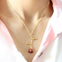 Load image into Gallery viewer, 2019 Statement Alloy Rose Pendant Necklace 4 Color Women Jewelry Accessories Gold Chain Necklace for Women Memorial Day Gift