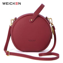 Load image into Gallery viewer, HOT Circular Design Fashion Women Shoulder Bag Leather Women's Crossbody Messenger Bags Ladies Purse Female Round Bolsa Handbag