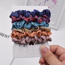 Load image into Gallery viewer, 6Pcs/Lot Fashion Simple Basic Elastic Hair Bands  Ponytail Holder Leopard Scrunchies Headband For Girl Women Hair Accessorie set