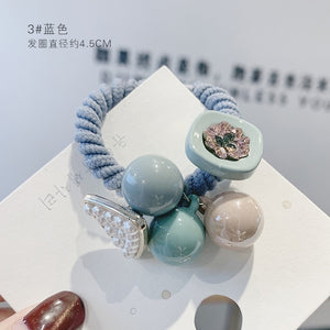 Hot Sale Korean Simple Scrunchie Women Girls Elastic Hair Rubber Bands Accessories Tie Hair Rope Ring Holder Ornaments Headdress