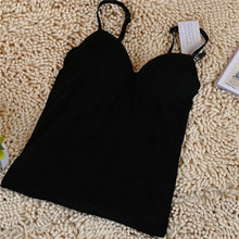 Load image into Gallery viewer, New Summer Women Tank Tops Sexy V-Neck Padded Tanks Tops Strap Camisole Vest Solid Sexy Women Tops NQ803881