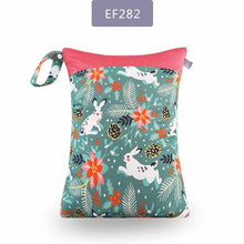 Load image into Gallery viewer, Elinfant 1PC Reusable Waterproof Fashion Prints Wet Dry Diaper Bag Double Pocket Cloth Handle Wetbags 30*40CM Wholesale