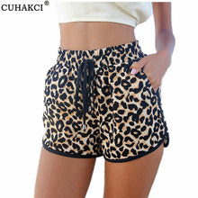 Load image into Gallery viewer, Women Summer Casual Leopard Printed Shorts Plus Size S-XL Women's Shorts Casual Short Pants
