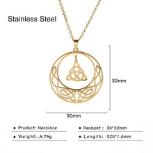 Load image into Gallery viewer, Teamer Irish Celtics Knot Pendant Necklace Simple Fashion Jewelry Silver Color Magic Wicca Viking Necklace for Female Adjustable