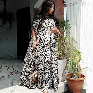 African Dresses For Women 2020 Dashiki Summer Plus Size Leopard Long Maxi Dress Traditional African Clothing Fairy Loose Dreams