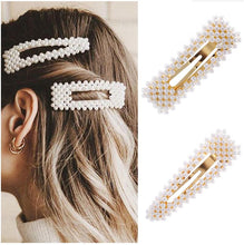 Load image into Gallery viewer, 2019 New Fashion Pearl Hair Clip for Women Elegant Korean Design Snap Barrette Stick Hairpin Hair Styling Accessories Hair Pins