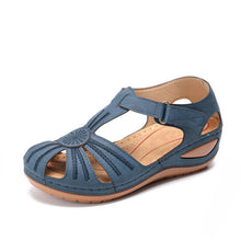 Load image into Gallery viewer, MCCKLE Woman 2020 Summer Leather Vintage Sandals Buckle Casual Sewing Women Retro Sandalias Female Ladies Platform Shoes 36-46