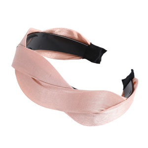 AWAYTR Fashion Korea Weaving Shape Soft Headband for Women Hairband Bezel Girls Hair Accessories Simple Hair Loop