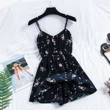 Load image into Gallery viewer, 2019 New Women's Dress Sweet Summer Casual Fashion Bohemian Print Thin Strap Sleeveless  Black Dress for Women