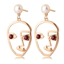 Load image into Gallery viewer, X&P New Korean Heart Statement Drop Earrings 2020 for Women Fashion Vintage Geometric Acrylic Dangle Hanging Earring Jewelry