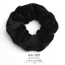 Load image into Gallery viewer, Woman Velvet Scrunchies Solid Hair Ring Ties For Girls Ponytail Holders Rubber Band Elastic Hairband Hair Accessories Headwear