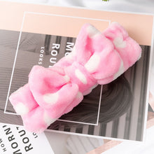 Load image into Gallery viewer, 2020 New Letter OMG Headbands for Women Girls Bow Wash Face Turban Makeup Elastic Hair Bands Coral Fleece Hair Accessories