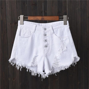 DJGRSTER Sexy Jeans Shorts Women Summer Booty Shorts Mini Denim Short Feminino Casual Jean Black Shorts Vintage Plus Size S-6XL