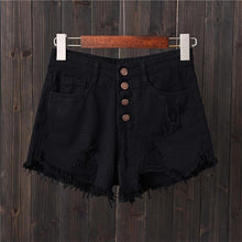 Load image into Gallery viewer, DJGRSTER Sexy Jeans Shorts Women Summer Booty Shorts Mini Denim Short Feminino Casual Jean Black Shorts Vintage Plus Size S-6XL