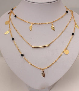 New fashion boho necklace ladies retro gold and silver chain multi-layer statement necklace pendant women's jewelry wholesale