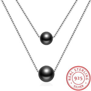 YANHUI New Fashion European Female Noble Double Layer Pearl Pendant Necklace Vintage Royal Short Necklace Women Jewelry ND135