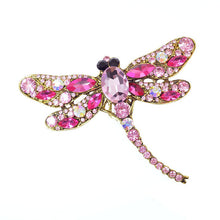 Load image into Gallery viewer, CINDY XIANG Crystal Vintage Dragonfly Brooches for Women Large Insect Brooch Pin Fashion Dress Coat Accessories Cute Jewelry
