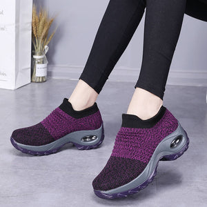 New 2020 Summer Women Sneakers Fashion Breathable Mesh Casual Shoes Platform Sneakers For Women Black Sock Sneakers Shoes